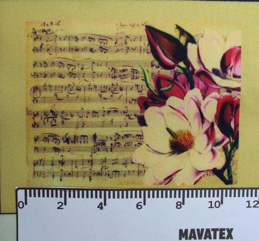 Panel hudba s růží - malý- tisk obrázků, obrázky na látce Tukan