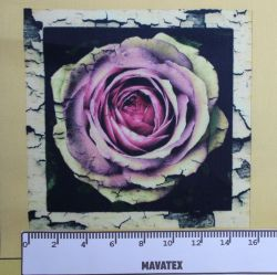 Panel retro růže-satén-VELKÝ