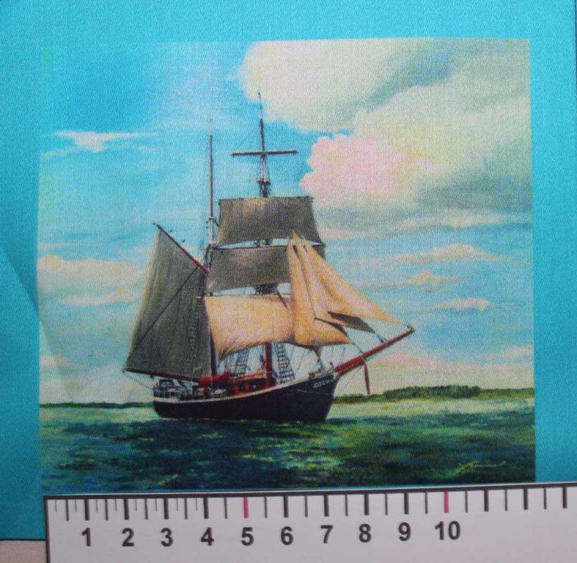 Panelový tisk - loď na moři- obrázky na látce, designový tisk, tisk na přání Tukan