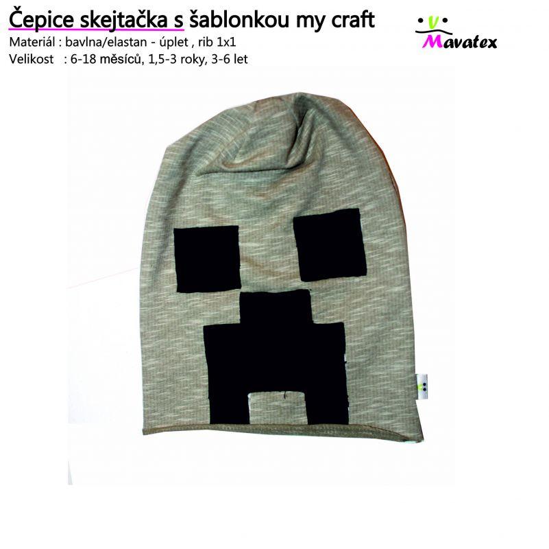 Návody šití čepice, čepice my craft , šijeme čepici , návod na čepici Mavatex