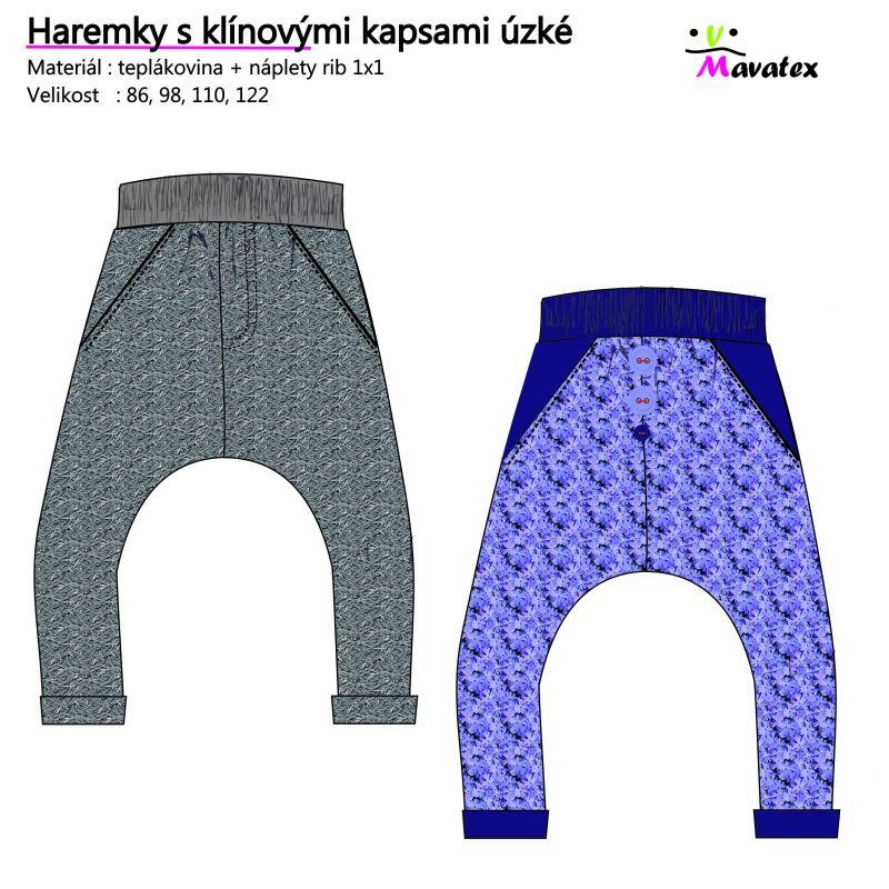 Návody šití kalhoty, haremky, jak ušít haremky, návody na šití, šijeme haremky, nasrávačky, dětské haremky Mavatex